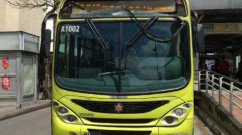 Bus de Metrolínea fue agredido por desconocidos